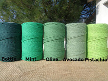 Twisted cotton rope,colorful rope,recycled cotton rope