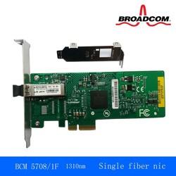 BCM 5708 Single port fiber card gigabit network card Gigabit Ethernet network adapter for Ethernet