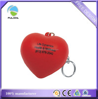 factory 3D red heart shaped soft pvc keyring rubber Keychain