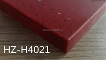 Deep color quartz stone slab man made marble stone for kitchen and flooring
