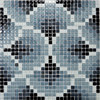 classic blue and white mosaic / beautiful glass mosaic tile mural