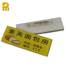 Most welcomed badge ! custom reusable metal name badge supplier / metal name tag holder / LED name badge