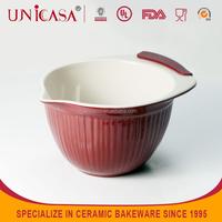UNICASA Ceramic microwave safe silicone bowls,oven safe ceramic salad bowls