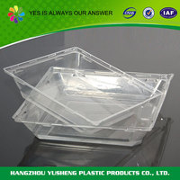 Plastic material food use hard plastic serving tray