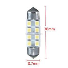 Car Dome 8 3528-SMD LED Bulb Light Interior Festoon Lamp 42mm White New