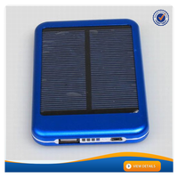 AWC386 Universal waterproof solar power bank for samsung galaxy tab portable solar energy 5000mah battery mobile