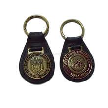 leather/pu keychain custom made leather keychains hot sale souvenir customized leather/pu keychain key ring key fob
