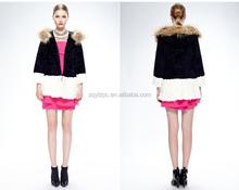 100% Real Genuine Rabbit Fur Jacket Coat Outwear Garment Fashion
