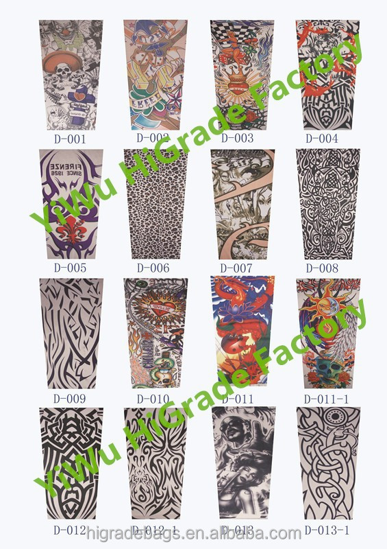 2015 hot sale fabric tattoo sleeve nylon tattoo arm sleeve for Custom tattoo armrest for sale
