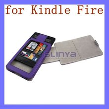 360 Rotating PU Leather Case for Kindle Fire with Fold Stand