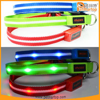 unique products 2015 TZ-PET6100 dog collar nylon dog collars lighted dog collar