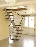 steel flat bar luxury stair handrail