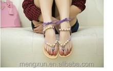 2015Bohemian thong sandals new flat flat sandals