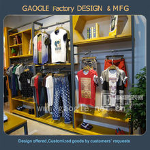 Custom fashion clothing store furniture for men clothes display
