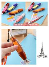 Latest popular custom logo advertising plastic ballpoint pen multifuncational ballpoint pen with LED light and sticker note pen