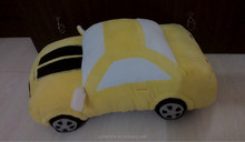 yellow colour bumble bee plush car toys , kids playing car toys