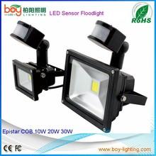 PIR ip65 motion sensor led flood ,led reflector moving motion sensor 230v flood