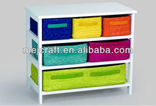 fancy colorful basket wood chest cabinet children furniture