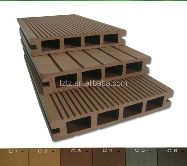 Cheap price eco friendly exterior decorative wood plastic for Cheap composite decking