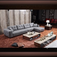 Luxury modern living room furniture HD325 with soft feather cushion