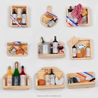 3d French bread and wine design magnet wholesale
