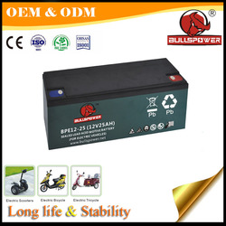 lead acid battery 12V 25Ah electric scooter battery with CE certificate best price