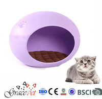 Hot Selling Egg Shaped High Quality Plastic Pet Puppy Dog Beds Cat Beds