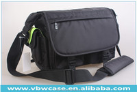 professional nylon camera bag with shoulder strap and two out side pockets