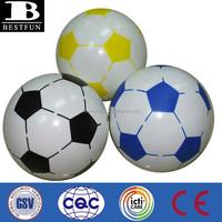 promotional custom made pvc inflatable soccer ball plastic soccer beach ball soft vinyl soccer ball