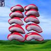 With PVC Window Neoprene Golf Club Iron Head Cover