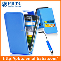 Set Screen Protector Stylus And Case For Samsung Galaxy Ace S5830 , Dark Blue Leather Wallet Shenzhen Phone Case