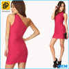 Latest off shoulder stripe design party dress sexy women knit dress 2015