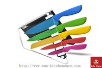 Colorful non-stick knife set