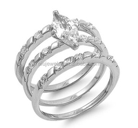 Cheap best-selling surgical steel engagement ring
