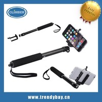 baseus brand hot selling wireless monopod selfie stick with bluetooth remote shutter for iphone 6