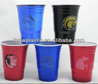 Double color 18oz disposable Plastic cup for drinking water