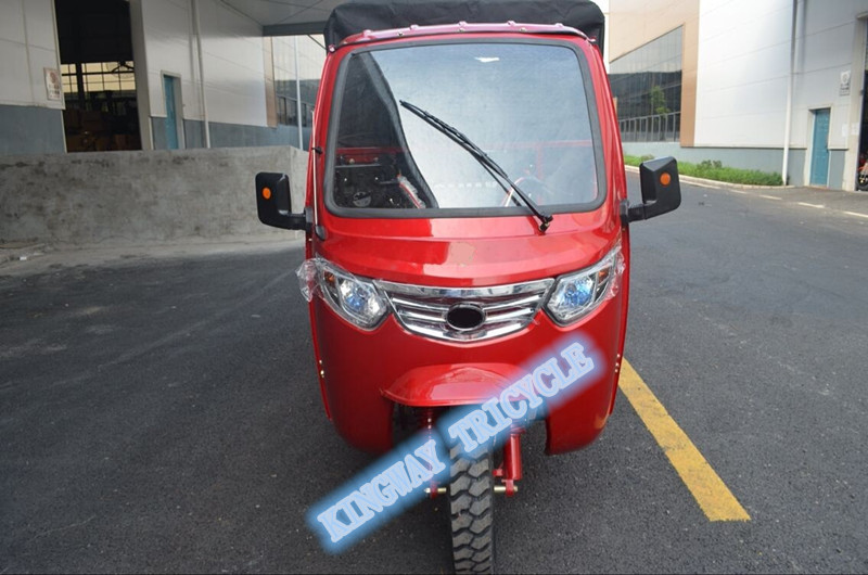 chinese three wheel adult gasoline moped cabin cargo tricycles