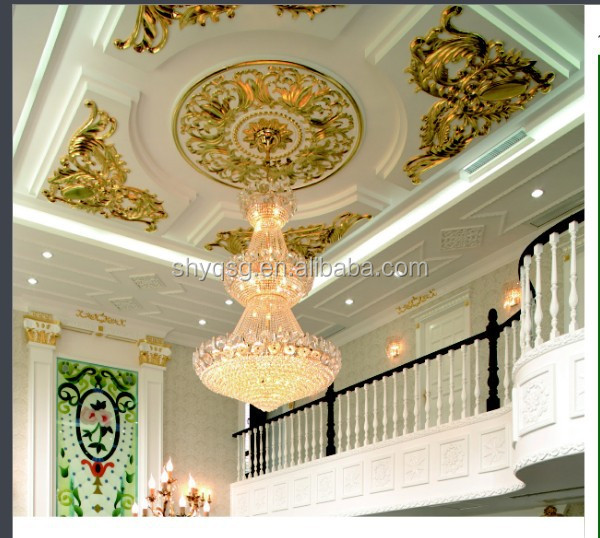 Ceiling window wall frame white color gypsum grg grc for Ceiling cornice ideas