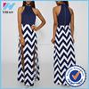 women sleeveless maxi dress in white stripe latest dress designs