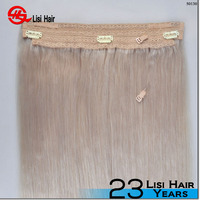 New products 2016 Wholesale Price Lasting Long Remy Hair halo hair extension flip in hair