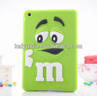 3D chocolate bean protector cover for IPAD mini promotion case for Ipad mini