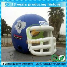Giant inflatable football helmet