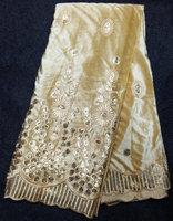 5V14-CM Wholesale champagne cream color african silk velvet for ladies' dress