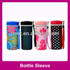 neoprene round can cooler,bottle tote