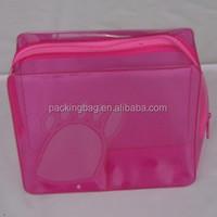Dongguan manufecturer PVC cosmetic bag with zipper