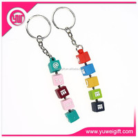 Custom shape 3d soft pvc keyrings,wholesale price keychain for promotion