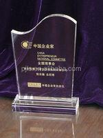china longsheng crystal award podium