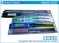 Fast shipping!Small MOQ 18'' universal frame wiper blade for japanese cars pair packing