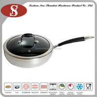 3 Ply stainless steel no oil fry pan