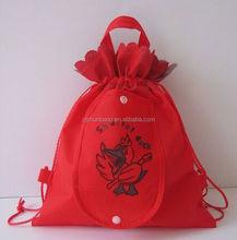 cotton bag/ eco-friendly cotton tote bag/ drawstring cotton shopping bag